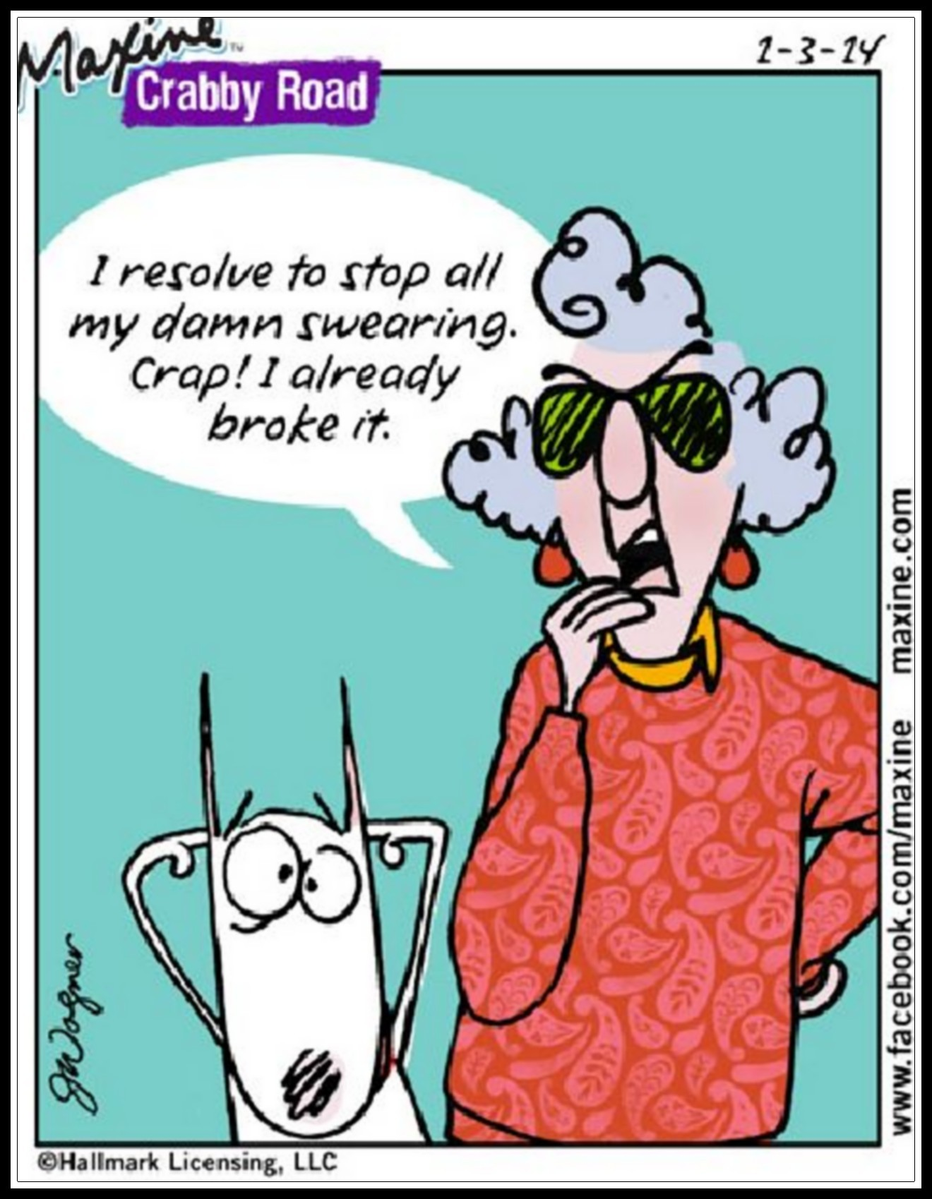 maxine cartoon funny crabby road year humor years resolutions daily bing person resolution acid sayings broken laugh female meme cartoons